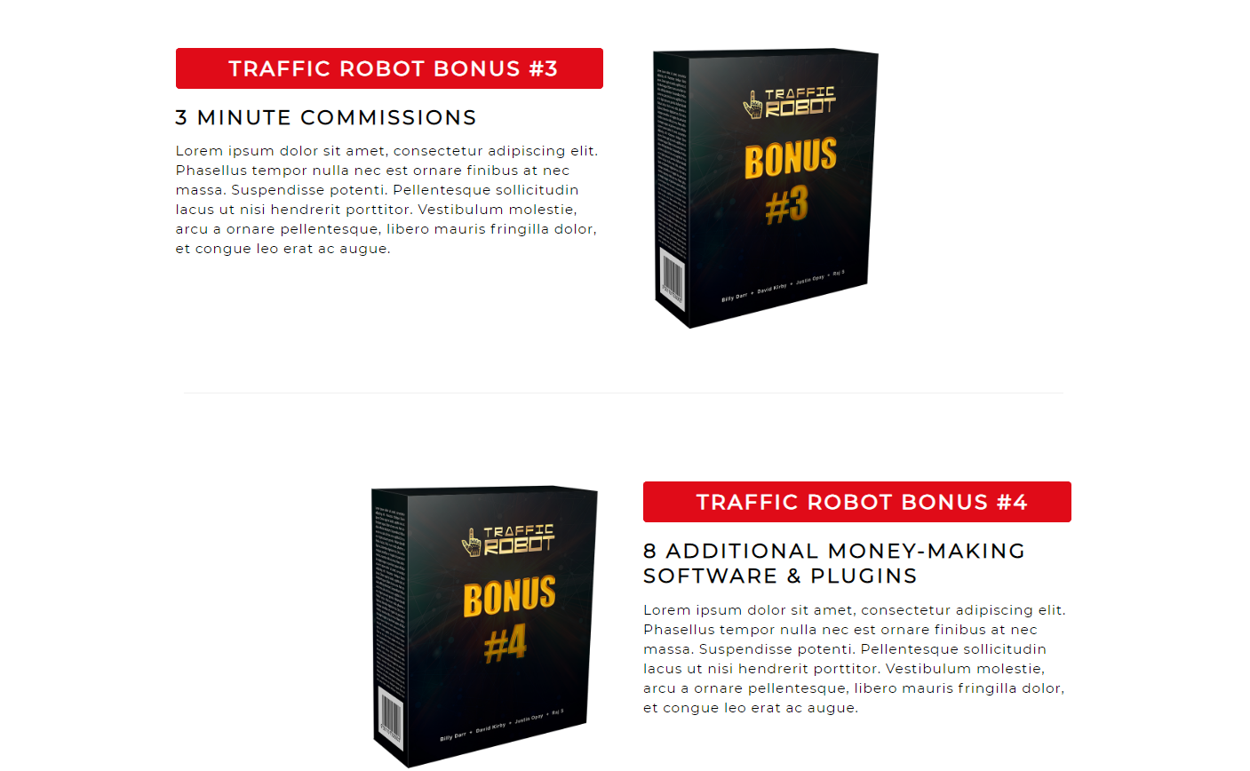 Traffic Robot Bonuses